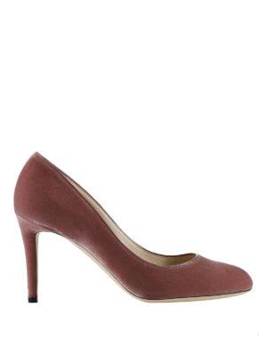 Jimmy Choo: court shoes - Bridget smooth velvet pumps