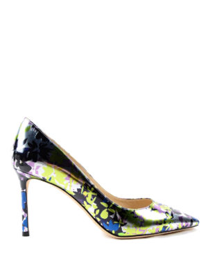 Jimmy Choo: court shoes - Camuflower mirror leather pumps