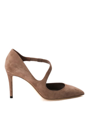 Jimmy Choo: court shoes - Davos suede pumps