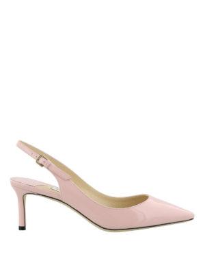 JIMMY CHOO: scarpe décolleté - Slingback Erin 60 in vernice rosa