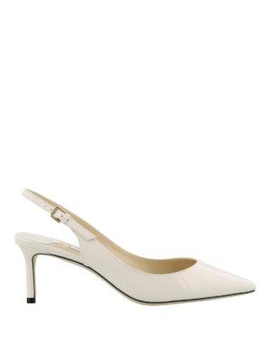 JIMMY CHOO: scarpe décolleté - Slingback Erin 60 in vernice bianca