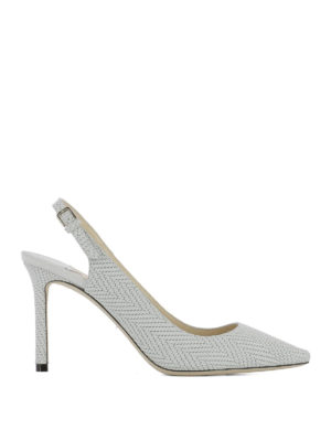Jimmy Choo: court shoes - Erin 85 fabric slingbacks