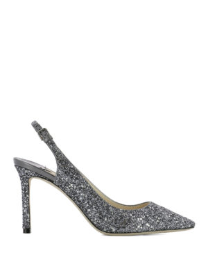 Jimmy Choo: court shoes - Erin 85 glitter slingbacks