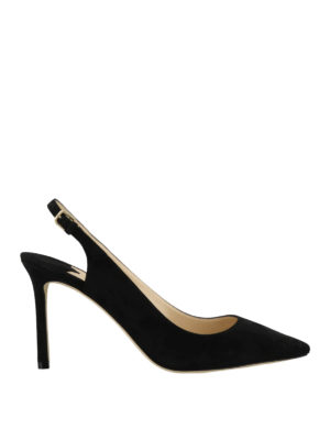 JIMMY CHOO  scarpe décolleté - Slingback Erin in pelle scamosciata nera 698d2aeec7d