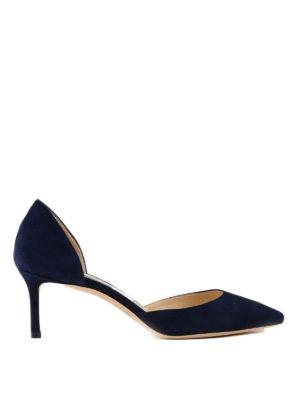 39362c4a8be JIMMY CHOO  scarpe décolleté - Décolleté Esther blu in camoscio