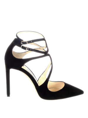 Jimmy Choo: court shoes - Lancer 100 black suede pumps
