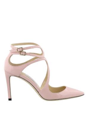 JIMMY CHOO: scarpe décolleté - Décolleté Lancer 85 in vernice rosa