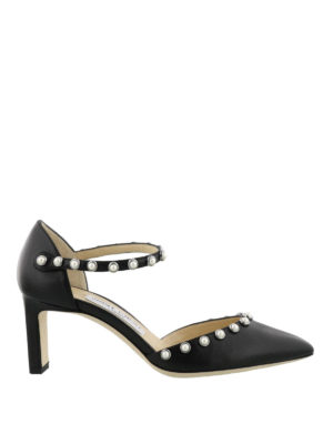 Jimmy Choo: court shoes - Leema 65 beaded nappa pumps