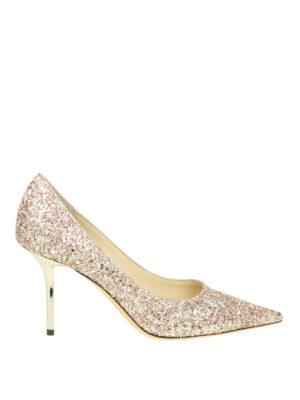 46ab32d69ce JIMMY CHOO  scarpe décolleté - Décolleté Love 85 in tessuto glitterato
