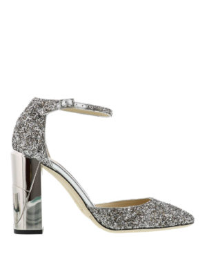 Jimmy Choo: court shoes - Mabel glitter pumps
