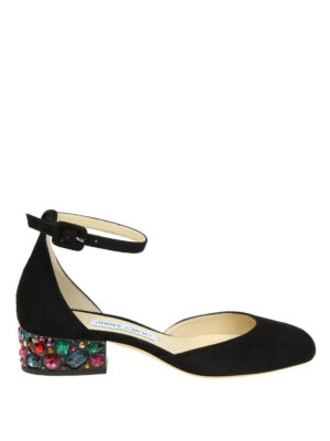 Jimmy Choo: court shoes - Marnie 35 crystal heel pumps