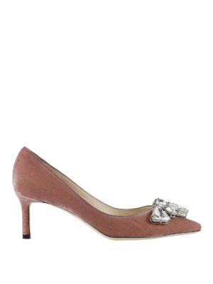 Jimmy Choo: court shoes - Marvel crystal embellished pumps