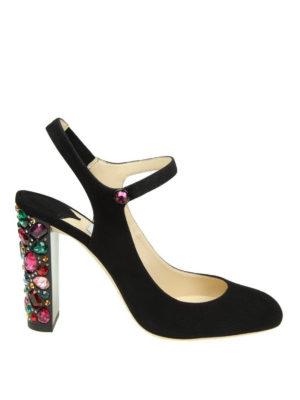 Jimmy Choo: court shoes - Meagan 100 crystal heel slingbacks