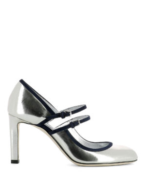 Jimmy Choo: court shoes - Micha 85 mirror leather pumps