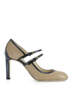 Jimmy Choo: court shoes - Micha 85 sequined pumps