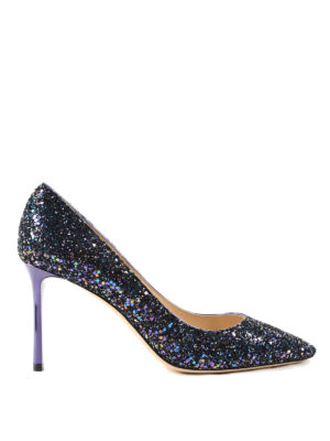 Jimmy Choo: court shoes - Multicolour glittered pumps