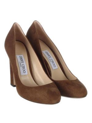 Jimmy Choo: court shoes online - Billie 100 suede pumps