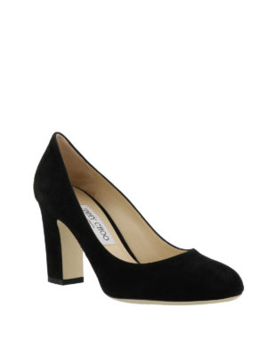 Jimmy Choo: court shoes online - Billie 85 black suede pumps