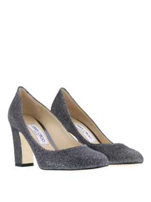 Jimmy Choo: court shoes online - Billie lamé glitter pumps