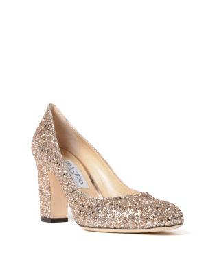 Jimmy Choo: court shoes online - Billie shadow glittery pumps