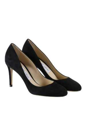 Jimmy Choo: court shoes online - Bridget black suede pumps