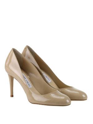 Jimmy Choo: court shoes online - Bridget nude patent pumps