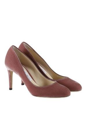 Jimmy Choo: court shoes online - Bridget smooth velvet pumps