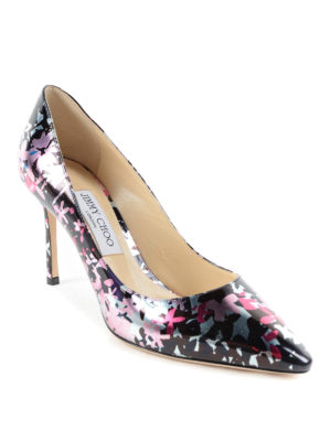 Jimmy Choo: court shoes online - Camuflower mirror leather pumps