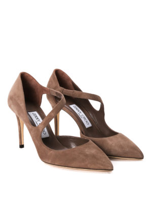 Jimmy Choo: court shoes online - Davos suede pumps