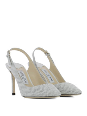 Jimmy Choo: court shoes online - Erin 85 fabric slingbacks