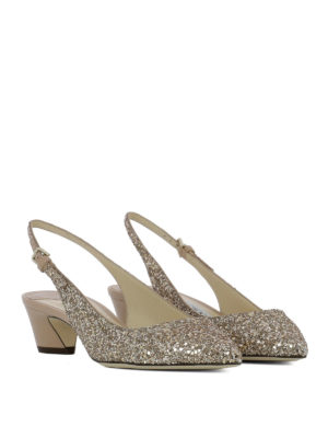 Jimmy Choo: court shoes online - Gemma 40 glitter slingbacks