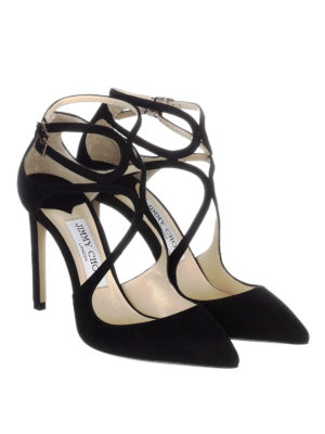 Jimmy Choo: court shoes online - Lancer 100 black suede pumps