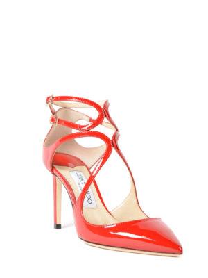 Jimmy Choo: court shoes online - Lancer 85 patent leather pumps