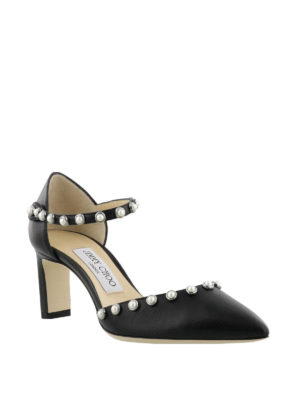 Jimmy Choo: court shoes online - Leema 65 beaded nappa pumps