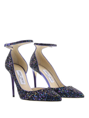 Jimmy Choo: court shoes online - Lucy glitter pumps