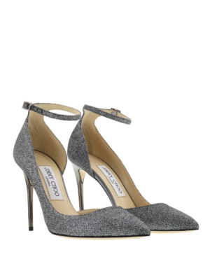 Jimmy Choo: court shoes online - Lucy lamé glitter pumps