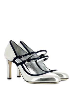 Jimmy Choo: court shoes online - Micha 85 mirror leather pumps