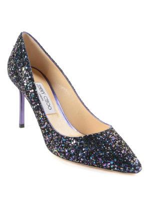 Jimmy Choo: court shoes online - Multicolour glittered pumps