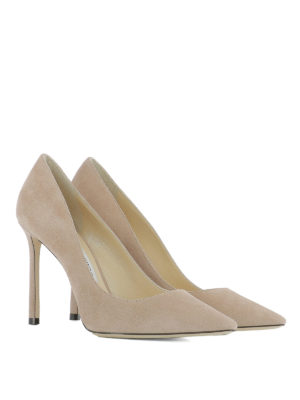 Jimmy Choo: court shoes online - Romy 100 suede pumps
