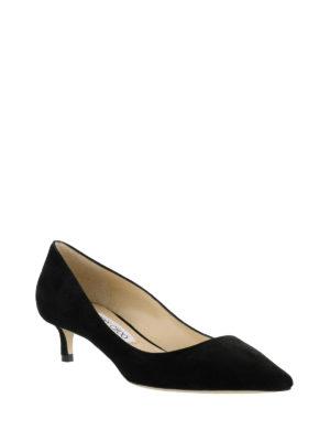 Jimmy Choo: court shoes online - Romy 40 bon ton black kitten heels