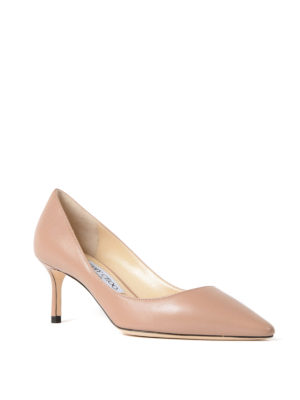Jimmy Choo: court shoes online - Romy 60 ballet leather pumps