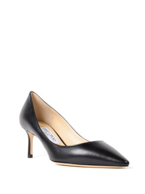 Jimmy Choo: court shoes online - Romy 60 black leather pumps
