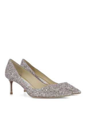 Jimmy Choo: court shoes online - Romy 60 glittered pumps