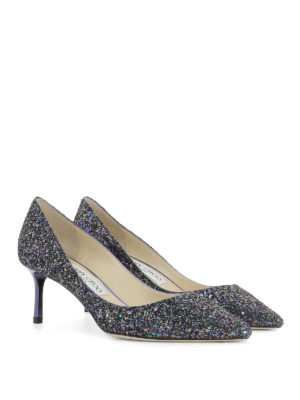 Jimmy Choo: court shoes online - Romy 60 multicolour glittered pumps