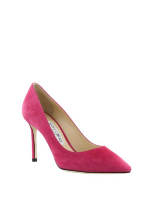 Jimmy Choo: court shoes online - Romy 85 bon ton suede pumps