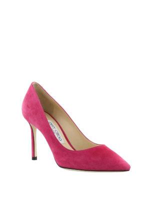 Jimmy Choo: court shoes online - Romy 85 bon ton suede pumps
