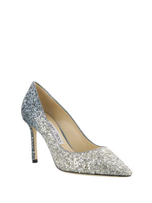 Jimmy Choo: court shoes online - Romy 85 degrade glitter pumps