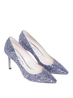 Jimmy Choo: court shoes online - Romy 85 glitter and stars pumps