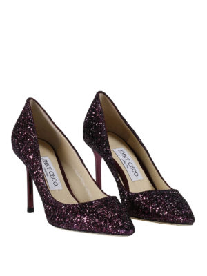 Jimmy Choo: court shoes online - Romy 85 glitter pumps