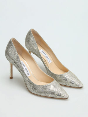 Jimmy Choo: court shoes online - Romy 85 glittered pumps